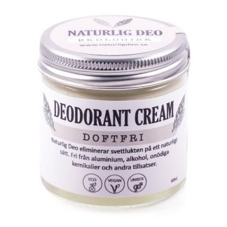 Naturlig Deo- Organic deodorant cream Unscented 60ml