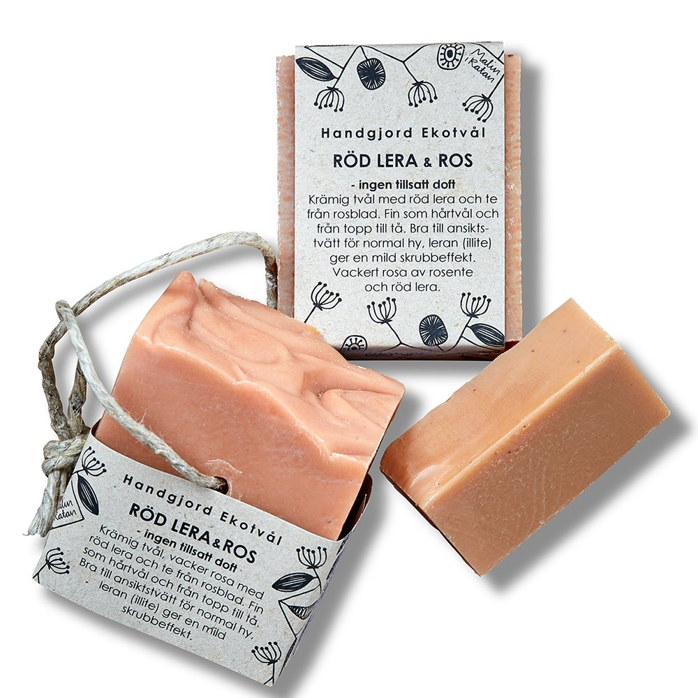 Eco Soap - Red Clay & Rose (unscented)