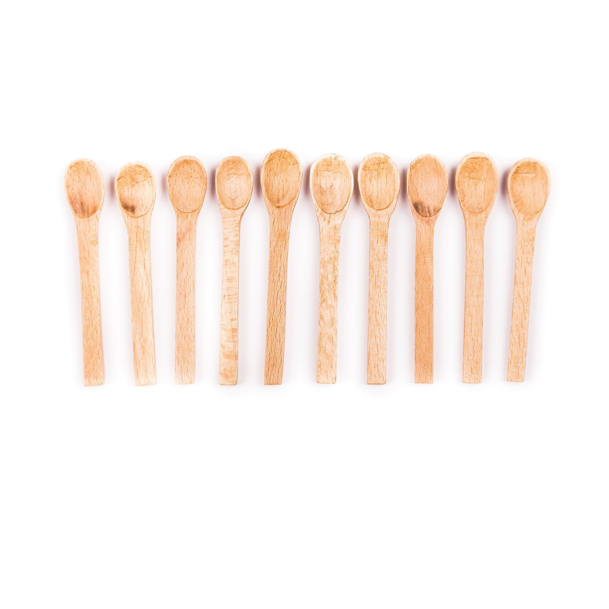 Small spatula in wood 10 pack