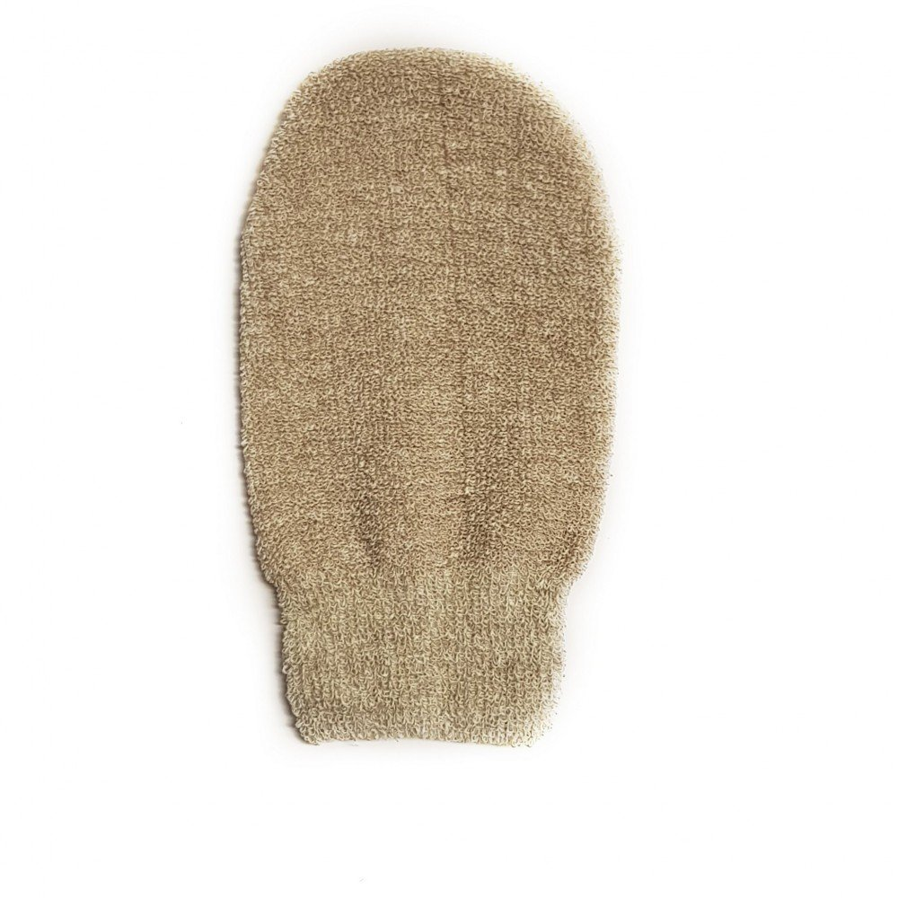Massage glove in natural material